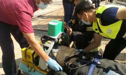 余姓工人送医后仍宣告不治。台湾《中时电子报》记者陈庆居翻摄