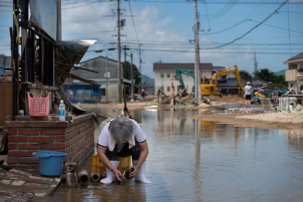 日本供水维修进度缓慢 暴雨灾区仍有20万人缺水