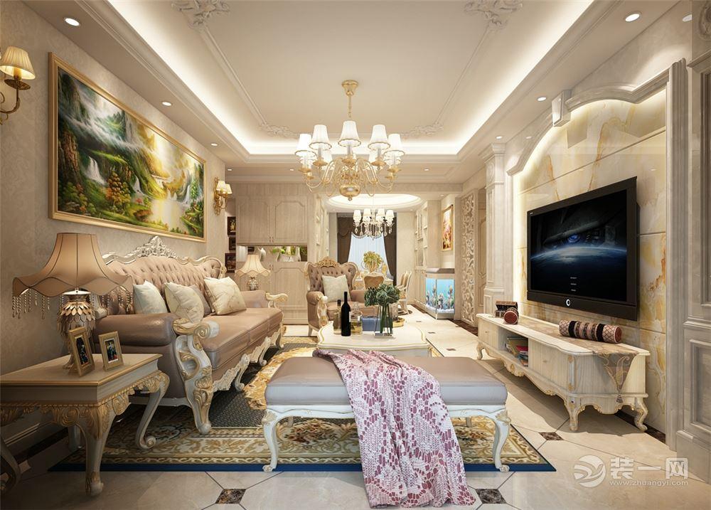 2018年最新欧式风格客厅装修效果图18款 温馨奢华系