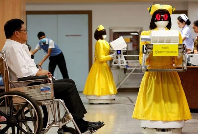 机器人护士姐姐亮相泰国医院 竟是中国造?