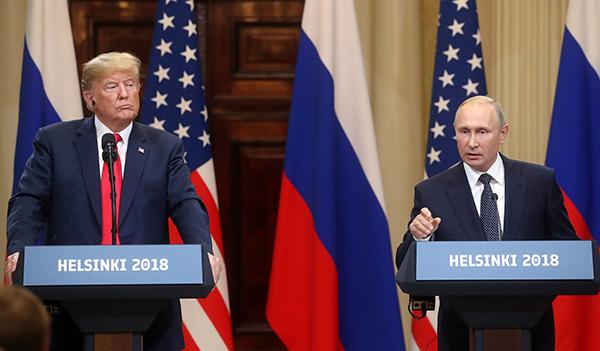"""特朗普记者会上回应""""通俄门""""称相信俄罗斯 被猛批"""