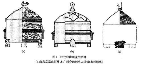 出土的汉代酒尊形制。图片来源:《地动仪复原模型的造型设计》截图