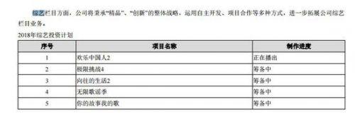 八大公司综艺投资账单:回报率下降 利润不足10%