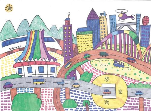儿童手绘主题画展在南宁举办 60幅手绘庆广西60华诞图片