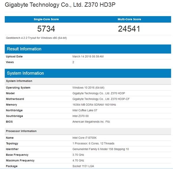 AMD Ryzen 7 2700X正式现身:性能战平超频版1800X