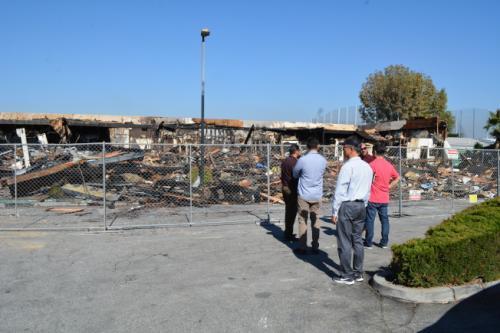 美國洛杉磯一亞裔密集商場發生火災 損失慘重