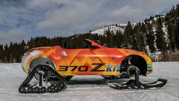 日产展示370Zki雪地车,魔改四轮传动系统