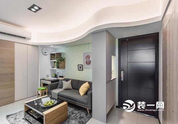 现代简约90平米小三房装修效果图小a案例案例建筑设计人员非注册行业图片