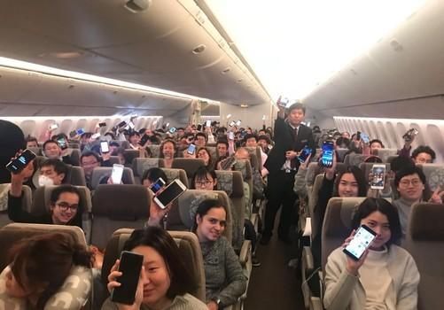 """飞机上可以正常使用开启""""飞行模式""""的手机"""