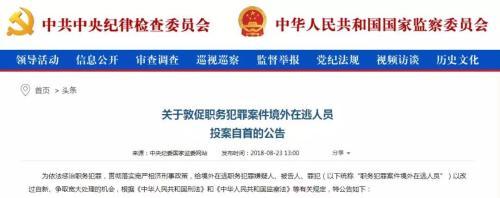 中央纪委国家监委网站截图