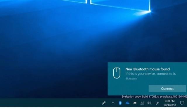 Windows 10下一版本将更方便的连接蓝牙设备