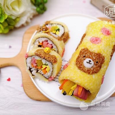 萌萌哒爱心熊手卷寿司,馋哭隔壁小孩~ - 后花园网文 - 趣味生活