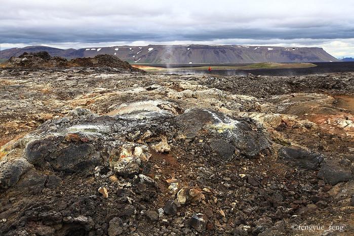 惠尔山死火山口   苔原   在极地气候环境下,苔原是冰岛