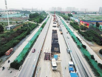 四环线、大河路快速化全面动工 明年6月底前高架主线建成通车