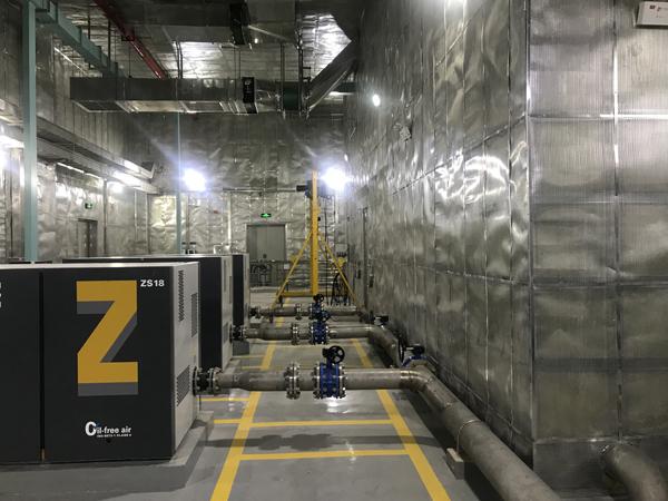 位于双廊镇的下沉式污水处理厂已经在运行