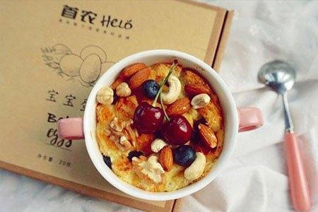 快手早餐 坚果蛋奶面包布丁的做法