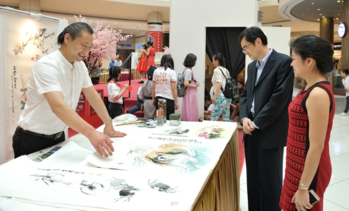 画家罗礼明第五次赴新加坡举办个展