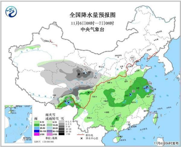 南方氣溫下跌頻創新低 西部高海拔地區仍有雪