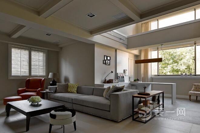 美式古典风格设计说明 郑州装修公司楼中楼别墅设计