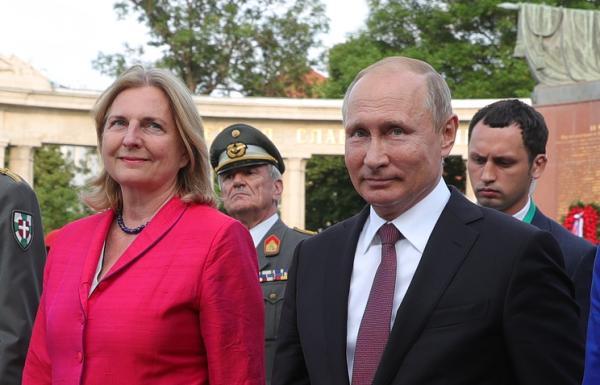普京将出席奥地利外长婚礼 奥外交部:没有政治含义
