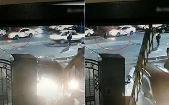 离奇一幕!女司机前一秒停车后一秒被自己车碾压