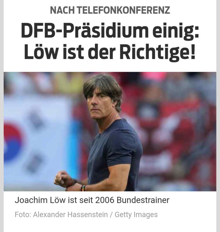 据《体育图片报》援引德新社的消息:在德国足协周五召开的内部会议