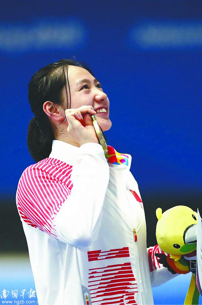 去广西大学偶遇她 16年后广西妹子再登亚运游泳奖台