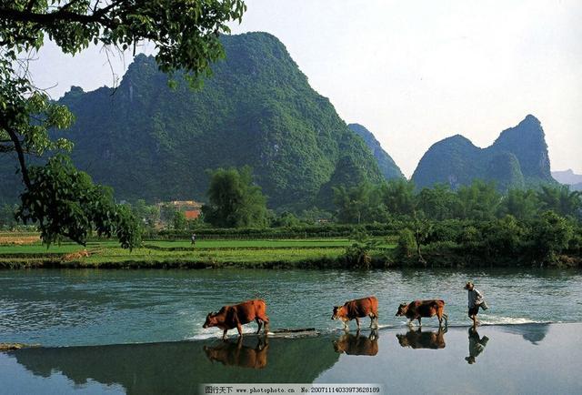 桂林山水甲天下,桂林风景美如画