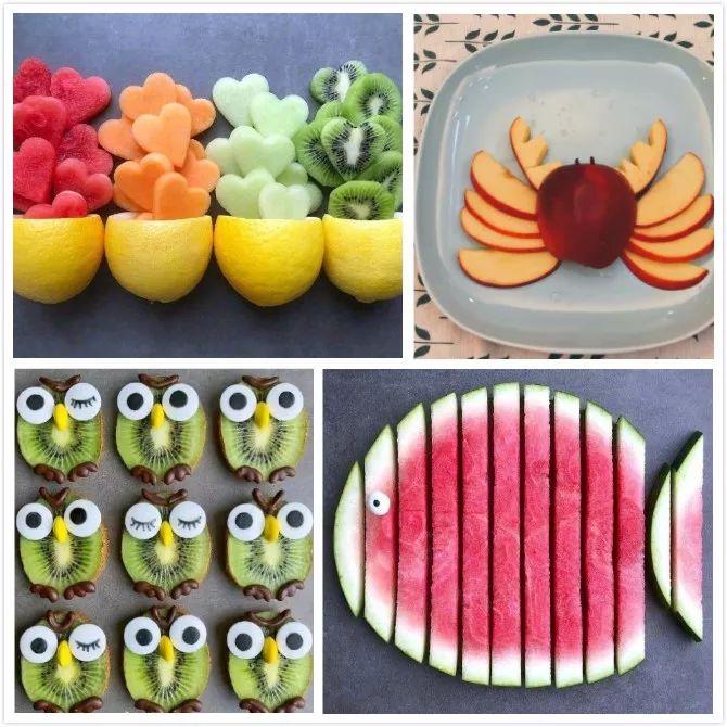 脑洞大开 超有创意水果拼盘,再也不用担心孩子不爱吃水果了!