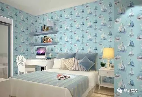 儿童房壁纸装修效果图 15平米儿童房创意设计