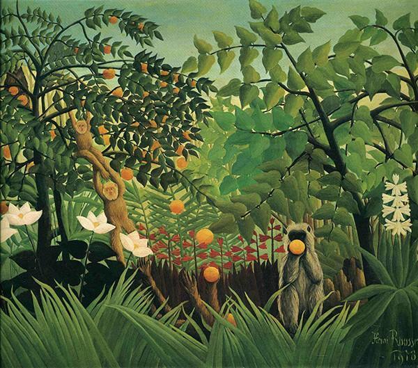 亨利卢梭 《异国情调的风景》162 x 130 cm