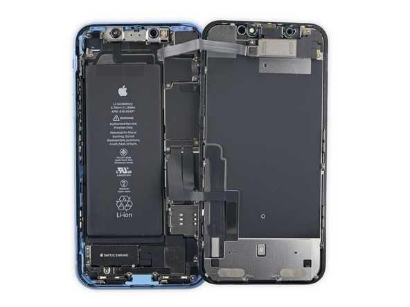 苹果iphone xr拆解:与xs几乎没有差别