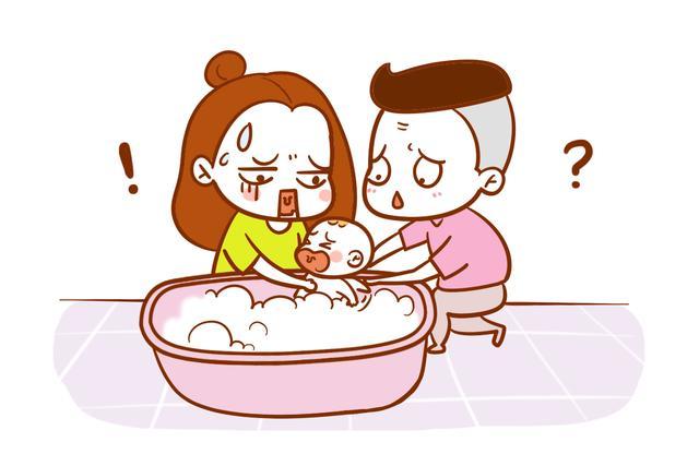 孩子洗澡步骤图