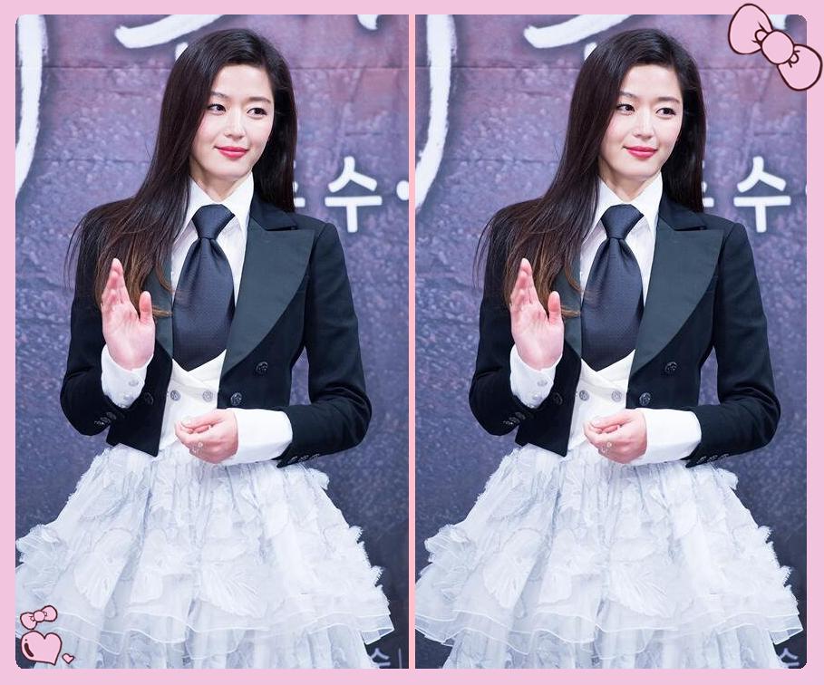 迪丽热巴撞上韩国女星全智贤,网友:女王脸和女神脸一目了然!