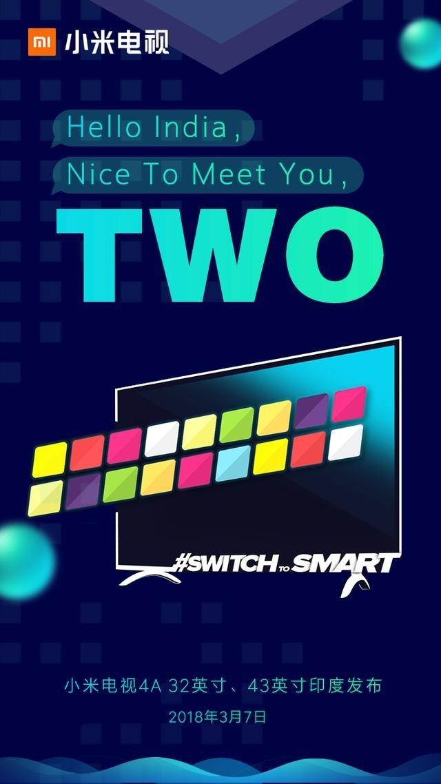 小米电视印度再发2款新品!厚道价格一步到位给印度米粉最智能的选择!